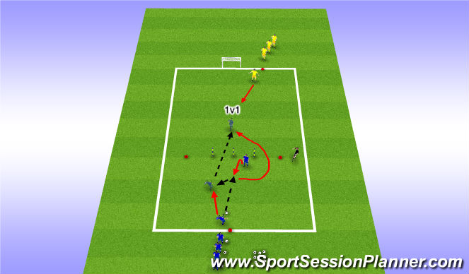 Football/Soccer Session Plan Drill (Colour): Touch Back and Through