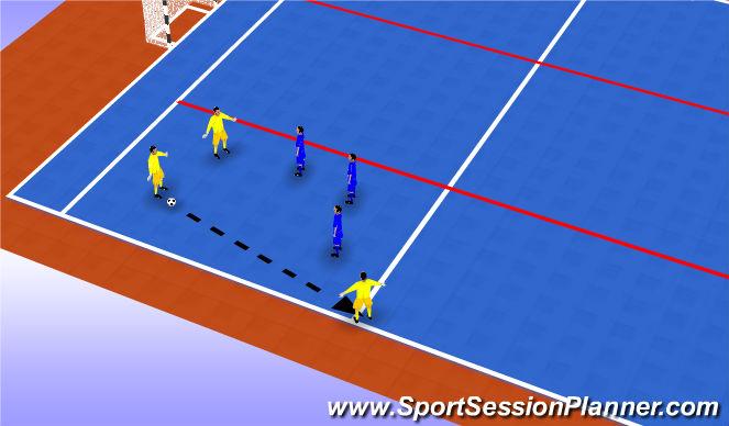 Futsal Session Plan Drill (Colour): Screen 4