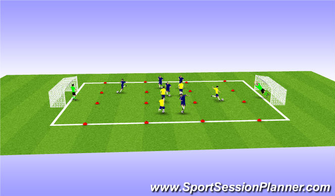 Football/Soccer Session Plan Drill (Colour): shooting #'s game
