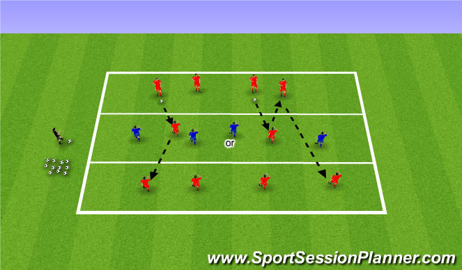 Football/Soccer Session Plan Drill (Colour): Keep Away 2