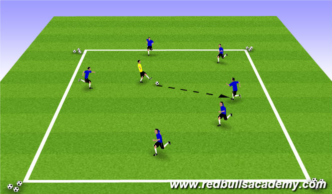 Football/Soccer Session Plan Drill (Colour): Warm Up (605)