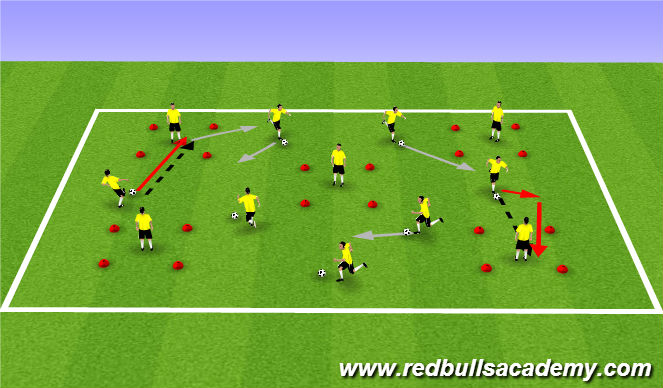 Football/Soccer Session Plan Drill (Colour): Main Theme (643)