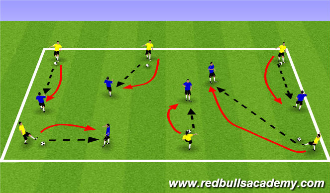 Football/Soccer Session Plan Drill (Colour): Warm Up (1100)