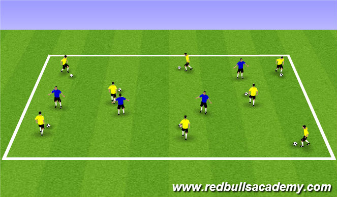 Football/Soccer Session Plan Drill (Colour): Warm Up (1101)