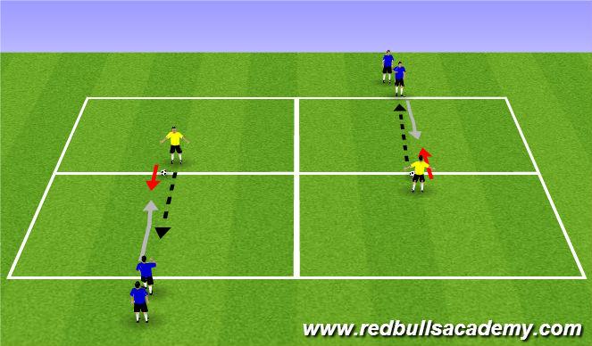 Football/Soccer Session Plan Drill (Colour): Main Theme (1118)