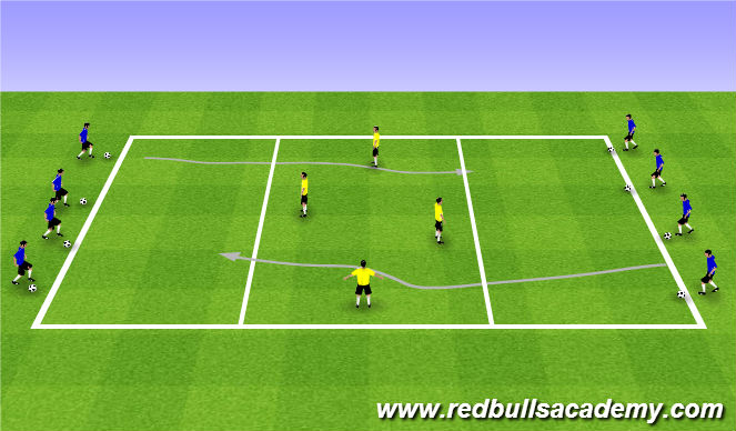 Football/Soccer Session Plan Drill (Colour): Warm Up (1103)