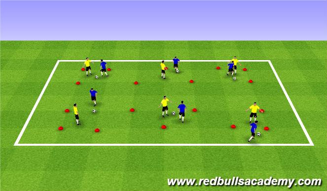 Football/Soccer Session Plan Drill (Colour): Main Theme (1120)
