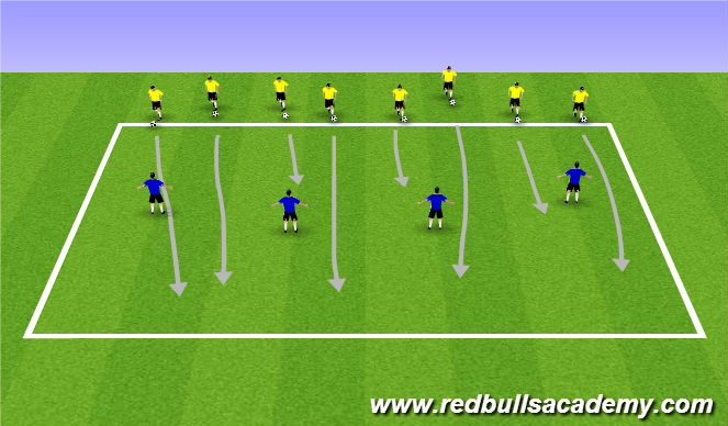 Football/Soccer Session Plan Drill (Colour): warm Up (1104)