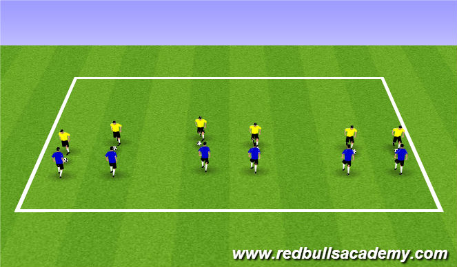 Football/Soccer Session Plan Drill (Colour): Main Theme (1115)