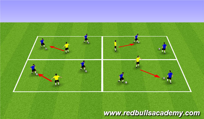 Football/Soccer Session Plan Drill (Colour): Warm Up (1105)
