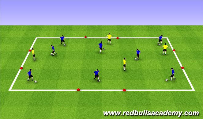 Football/Soccer Session Plan Drill (Colour): Mian Theme (1122)