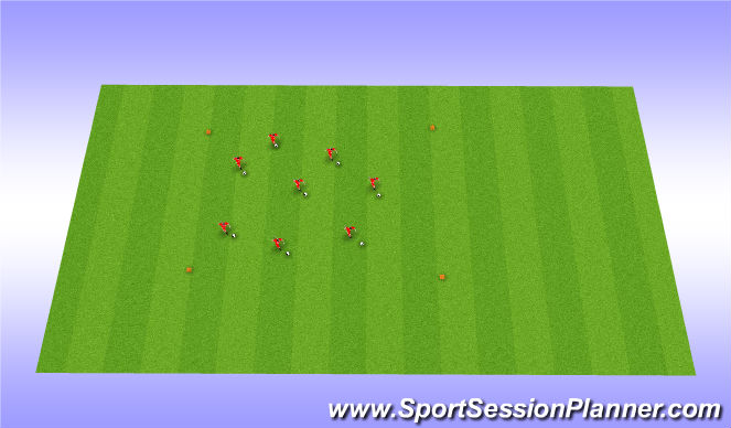 Football/Soccer Session Plan Drill (Colour): Warm-up: Dribble in the box