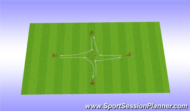 Football/Soccer Session Plan Drill (Colour): Sidemoves - Dribble in a diamond