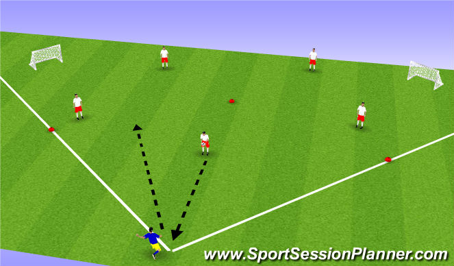 Football/Soccer Session Plan Drill (Colour): Kick Ball