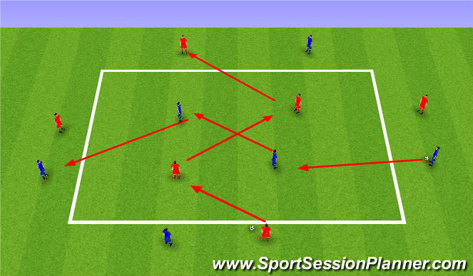 Football/Soccer Session Plan Drill (Colour): possession work