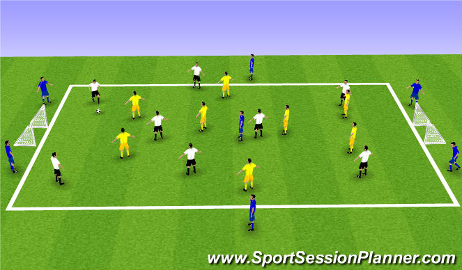 Football/Soccer Session Plan Drill (Colour): small square