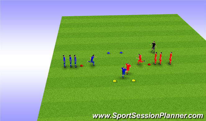 Football/Soccer Session Plan Drill (Colour): Warm up Race