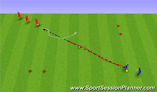 Football/Soccer Session Plan Drill (Colour): 1 á 1.