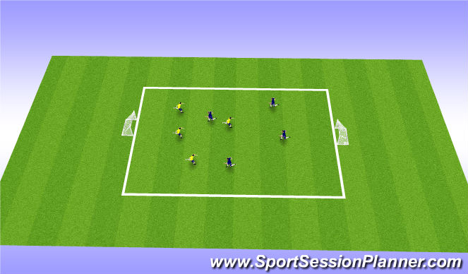 Football/Soccer Session Plan Drill (Colour): 4v4,5v5