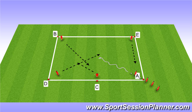 Football/Soccer Session Plan Drill (Colour): Sceenn title 1