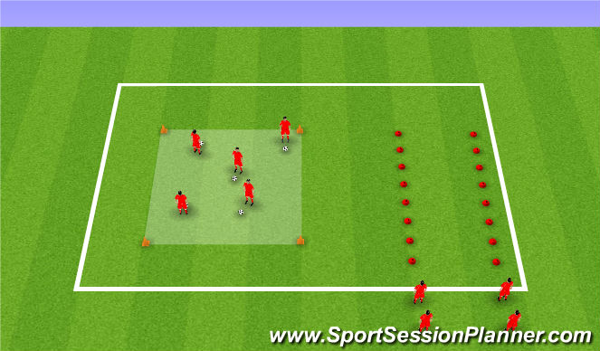 Football/Soccer Session Plan Drill (Colour): wup/ball manipulation
