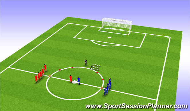 Football/Soccer Session Plan Drill (Colour): 50/50 balls