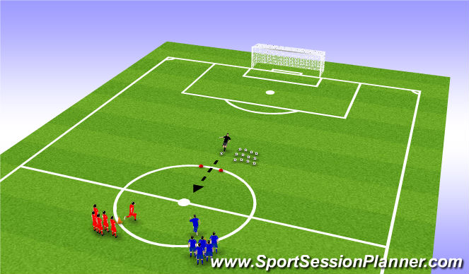 Football/Soccer Session Plan Drill (Colour): First to the Ball