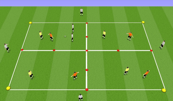 Football/Soccer Session Plan Drill (Colour): Positional Possession