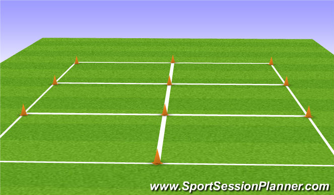 Football/Soccer Session Plan Drill (Colour): Dome Set Up & Organization