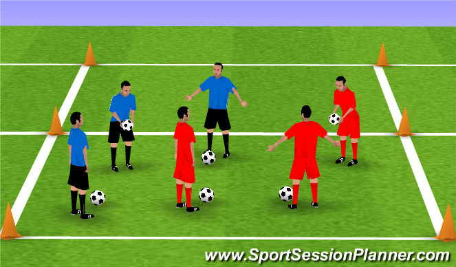 Football/Soccer Session Plan Drill (Colour): Juggling