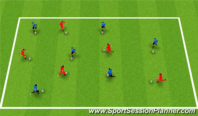 Football/Soccer Session Plan Drill (Colour): Moves/Feints