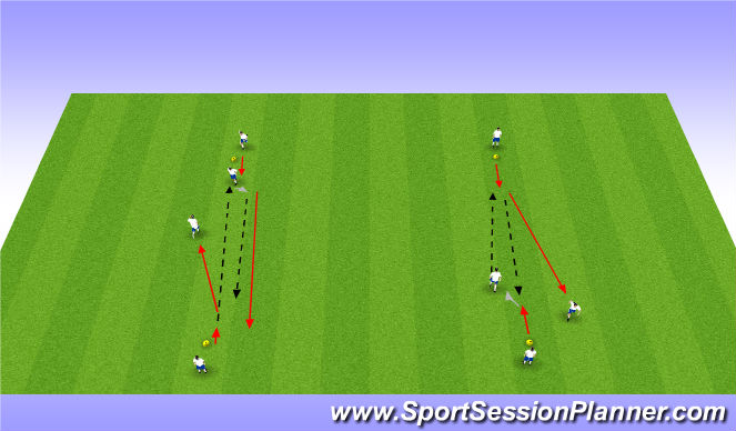 Football/Soccer Session Plan Drill (Colour): 2 touch passing warm up