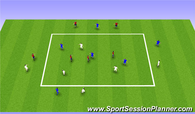 Football/Soccer Session Plan Drill (Colour): the never-ending game