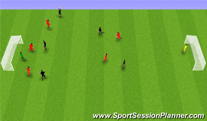 Football/Soccer Session Plan Drill (Colour): Skallabolti.