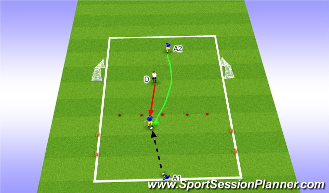 Football/Soccer Session Plan Drill (Colour): Receive, protect and move