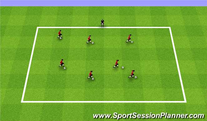 Football/Soccer Session Plan Drill (Colour): Summer ODP Week 8 2nd Session