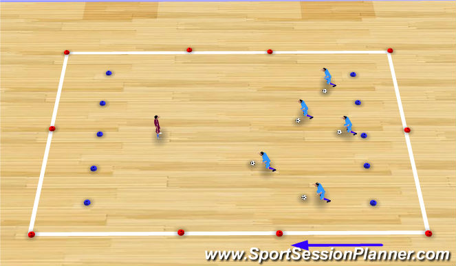 Futsal Session Plan Drill (Colour): Peek a Boo