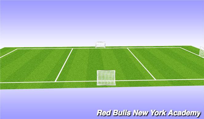 Football/Soccer Session Plan Drill (Colour): 3 v 3 +1 Game