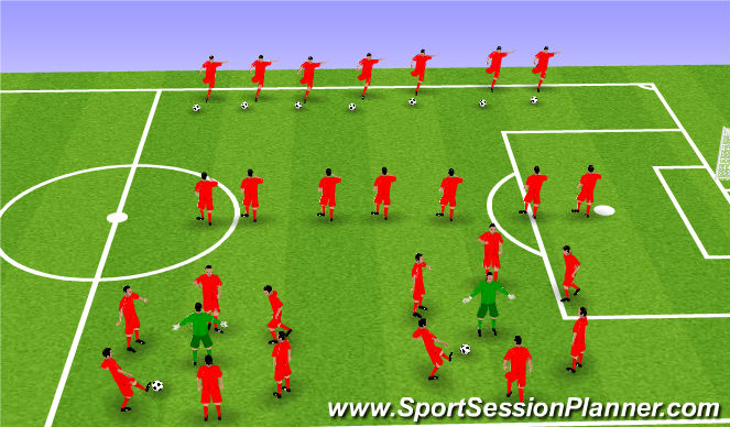 Football/Soccer Session Plan Drill (Colour): Pre-training