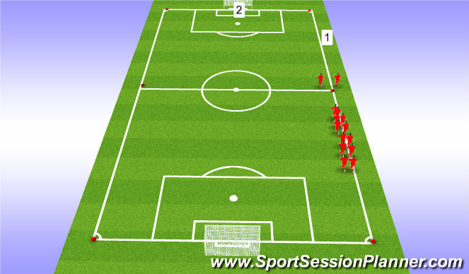 Football/Soccer Session Plan Drill (Colour): Indian runs w/core work