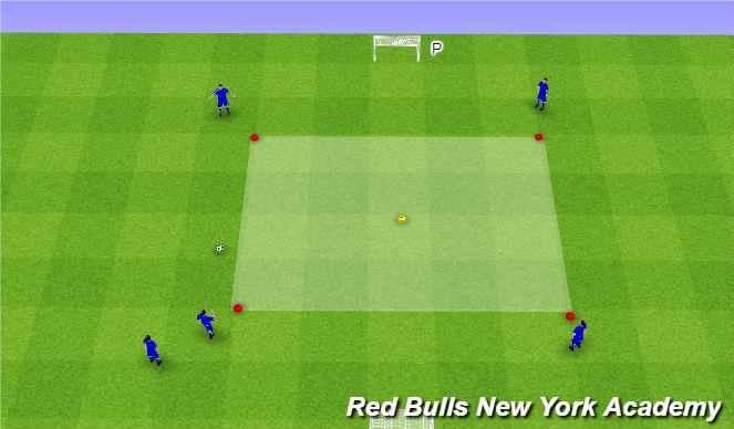 Football/Soccer Session Plan Drill (Colour): Pass & follow