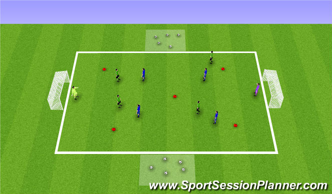Football/Soccer Session Plan Drill (Colour): Laverkausen Ball Mastery SSG