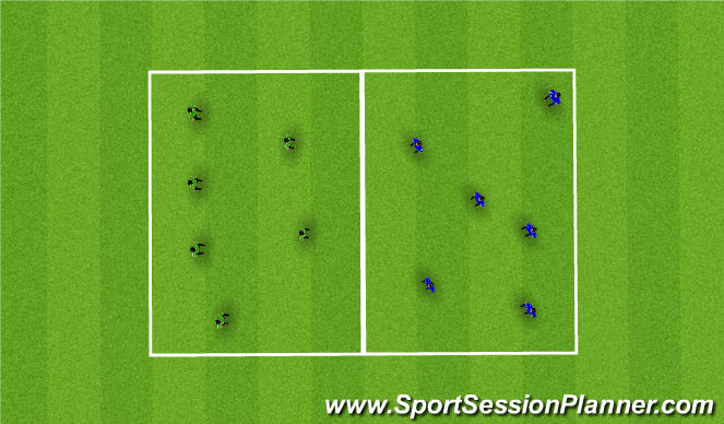 Football/Soccer Session Plan Drill (Colour): 2 Box Rondo