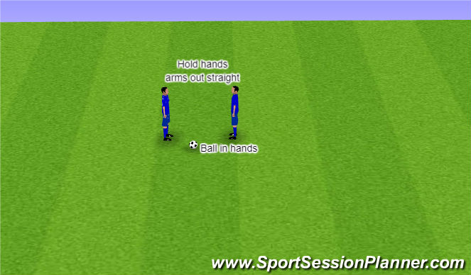 Football/Soccer Session Plan Drill (Colour): Arrival Game - Arm Tennis