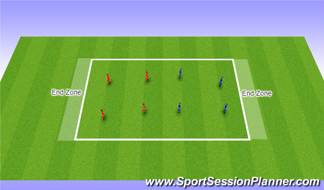 Football/Soccer Session Plan Drill (Colour): End-Zone