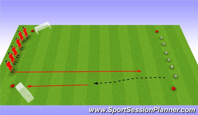 Football/Soccer Session Plan Drill (Colour): Egg Hunt