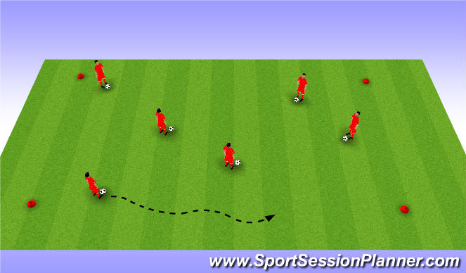 Football/Soccer Session Plan Drill (Colour): Hit the Dirt