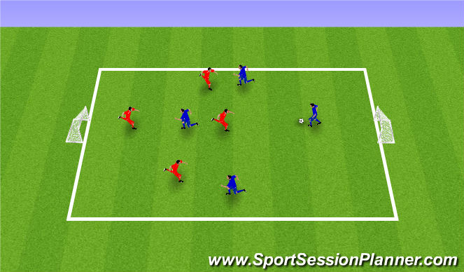 Football/Soccer Session Plan Drill (Colour): SSG Pickup