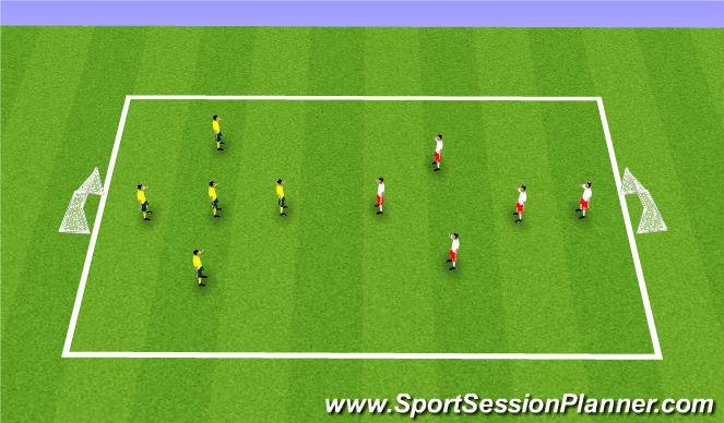 Football/Soccer Session Plan Drill (Colour): Futsal Game