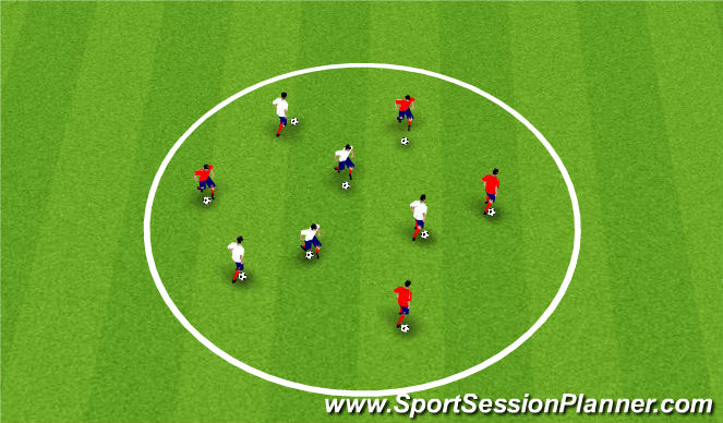 Football/Soccer Session Plan Drill (Colour): Warm Up/Phys Lit